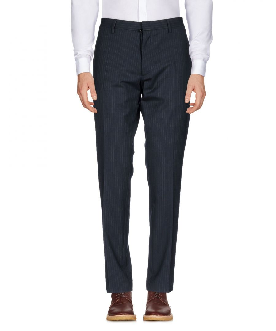 Image for Dsquared2 Dark Blue Virgin Wool Regular Fit Tailored Trousers