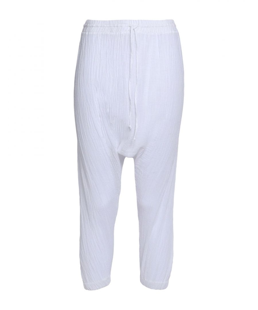 Image for TROUSERS Miguelina White Woman Cotton