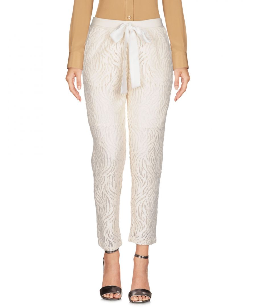 Image for TROUSERS Soho De Luxe Ivory Woman Polyester