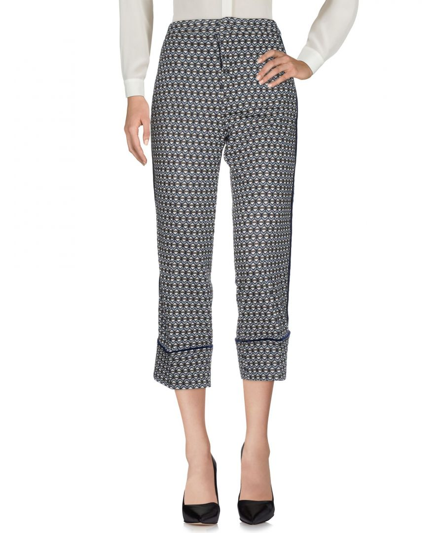 Image for PF Paola Frani Dark Blue Cropped Trousers