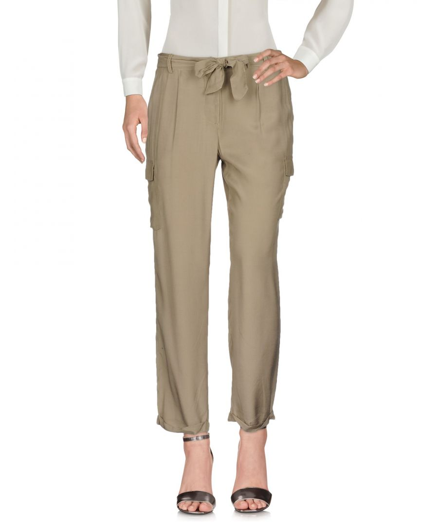 Image for Tommy Jeans Military Green Cotton Wide Leg Trousers