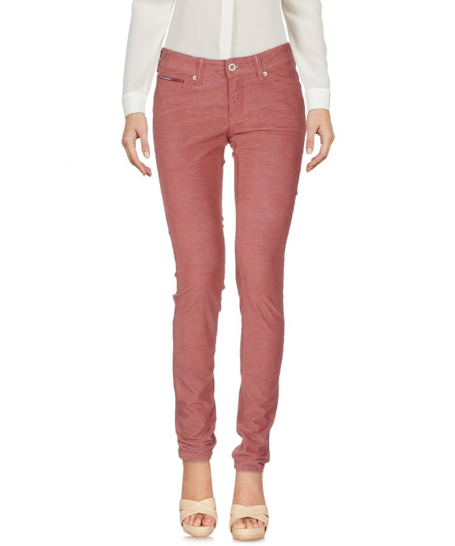 Image for TROUSERS Tommy Jeans Brick red Woman Cotton