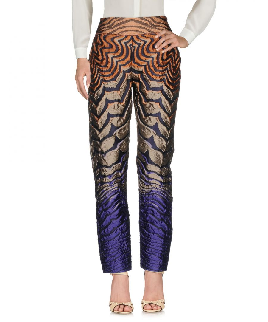 Image for Alberta Ferretti Multicolour Jacquard High Waisted Trousers