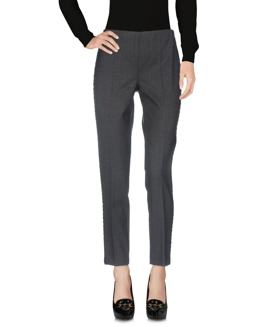 Image for P.A.R.O.S.H. Grey Virgin Wool Tapered Leg Trousers