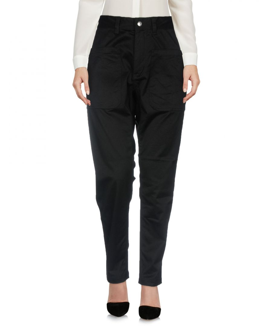 Image for White Mountaineering Black Cotton Pantaloni