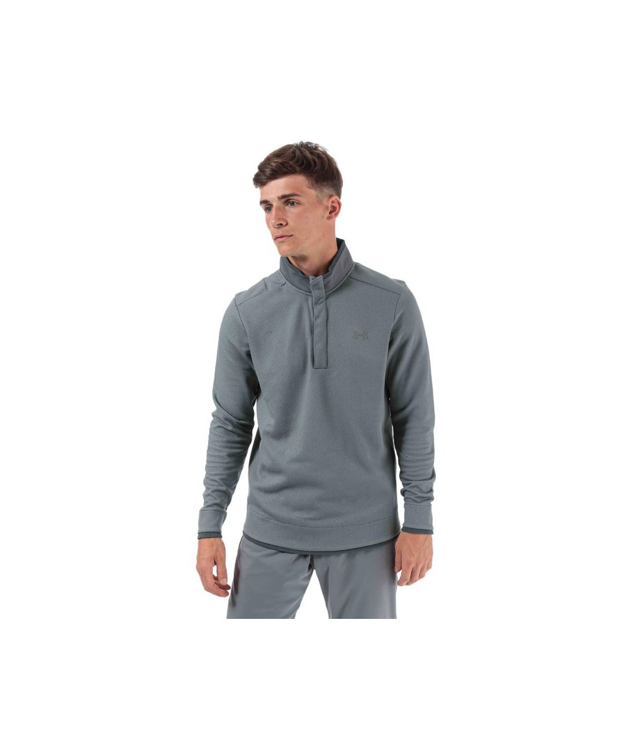 Image for Men's Under Armour Storm Sweater Fleece Snap Mock in Grey