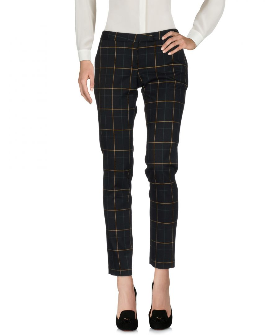 Image for Camicettasnob Black Check Twill Trousers