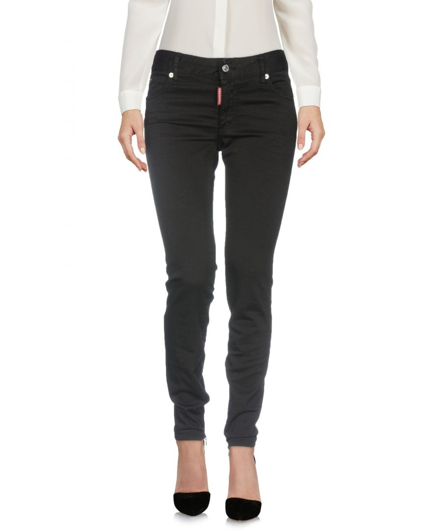 Image for Dsquared2 Black Cotton Trousers