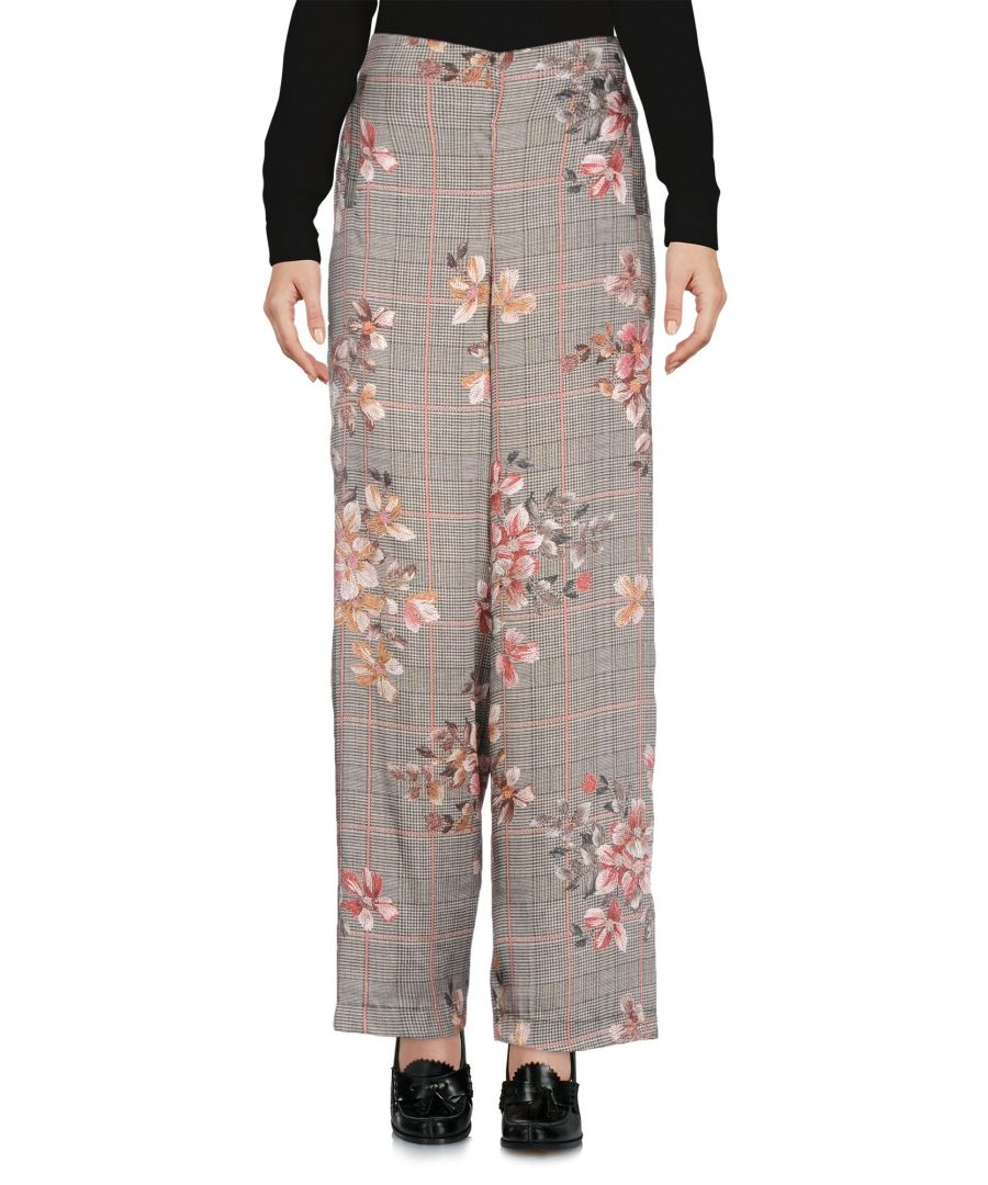 Image for Kaos Grey Floral Design Tailored Trousers