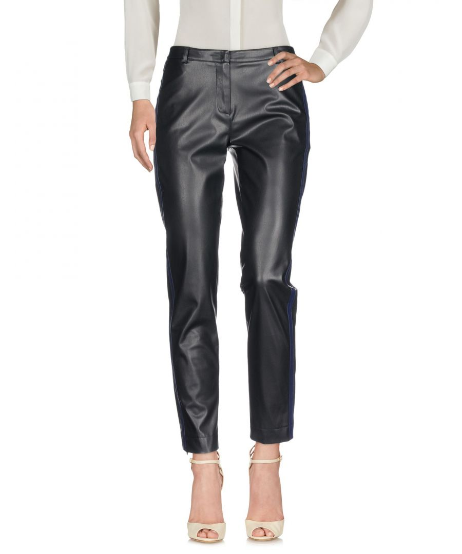 Image for Patrizia Pepe Black Faux Leather Trousers