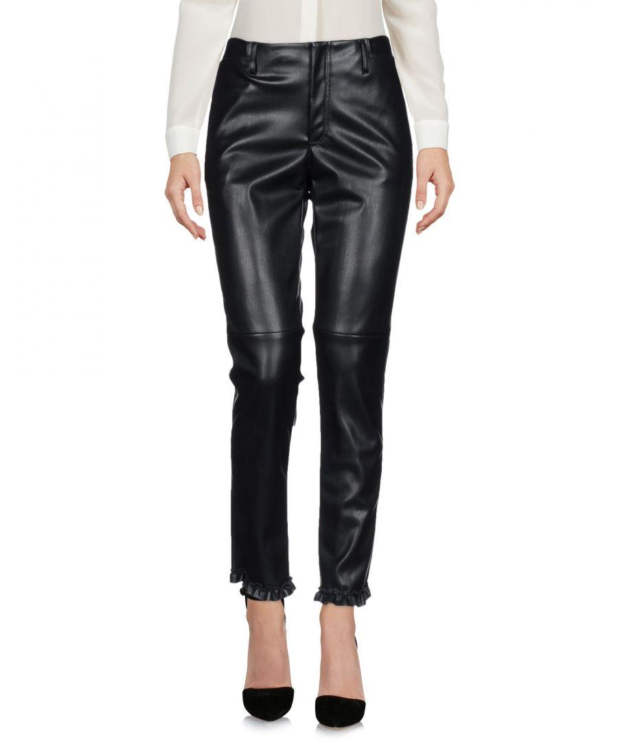 Image for Philosophy Di Lorenzo Serafini Black Faux Leather Trousers