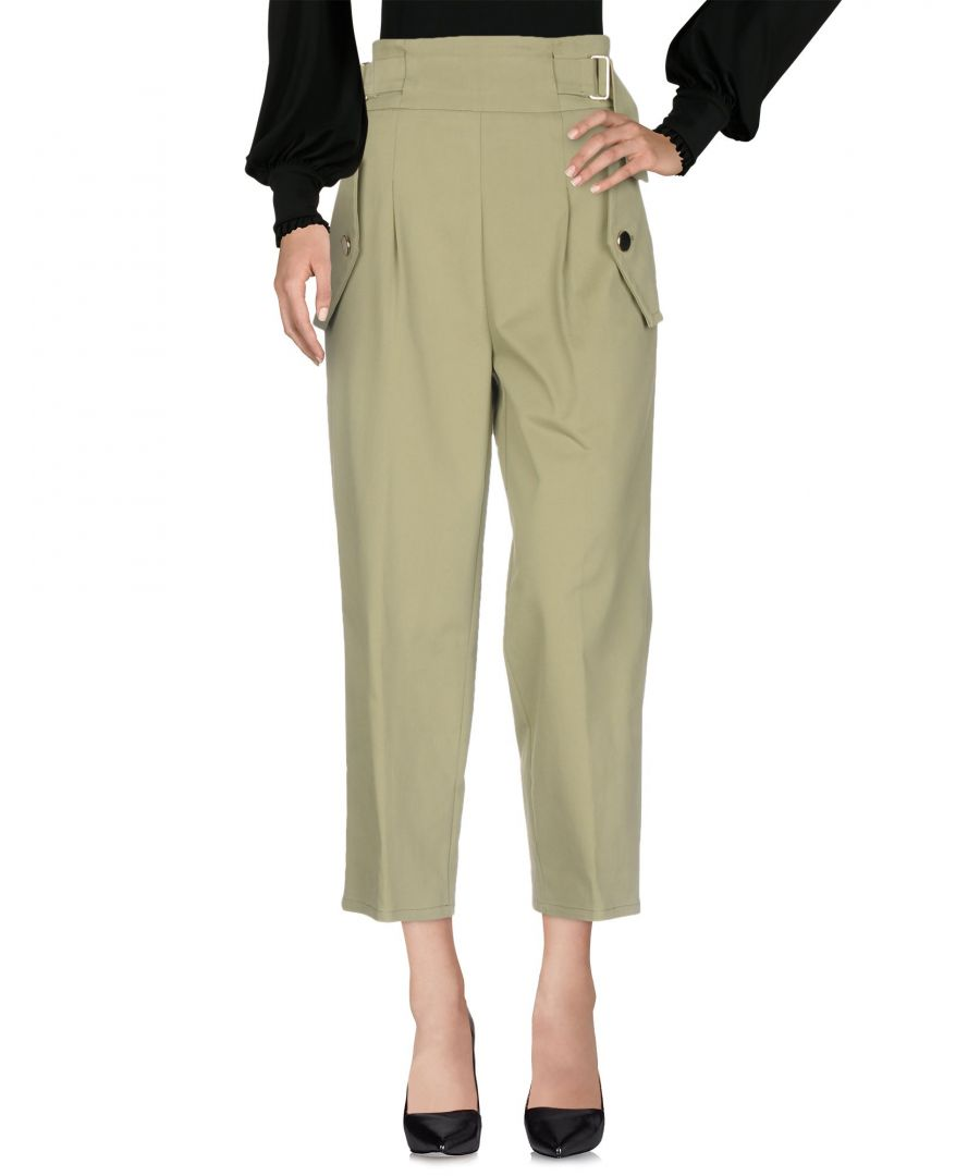 Image for Annarita N Twenty 4H Military Green Cotton Casual Trousers