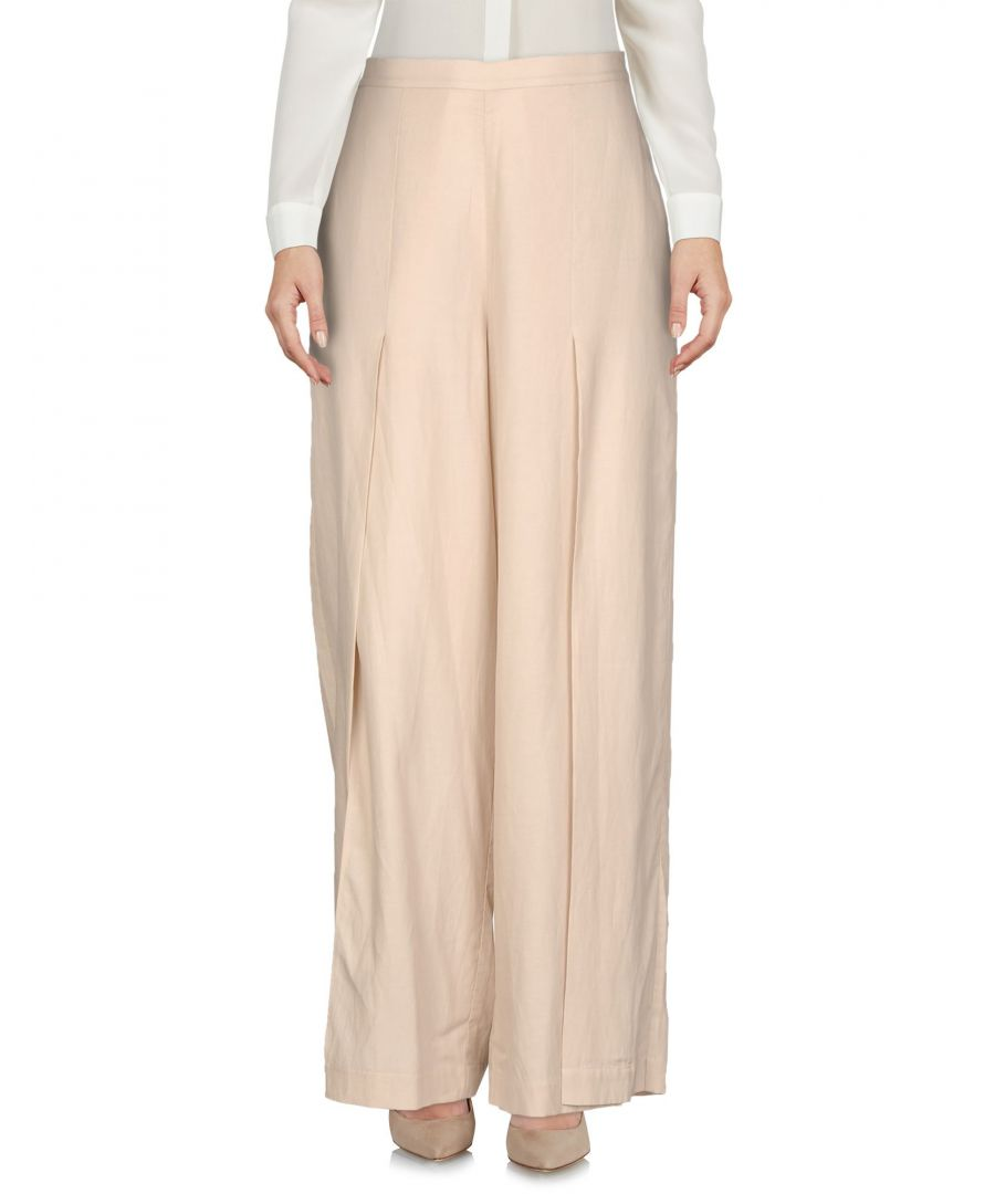 Image for Bcbgmaxazria Beige Wide Leg Trousers