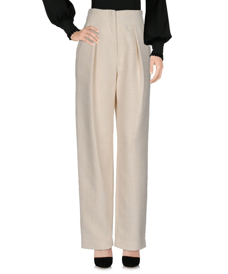 Image for By Malene Birger Ivory Wide Leg Trousers