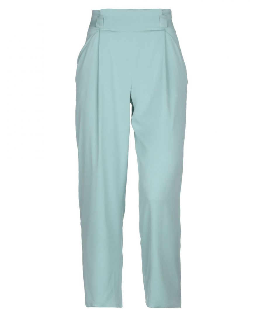 Image for Armani Collezioni Light Green Crepe Trousers