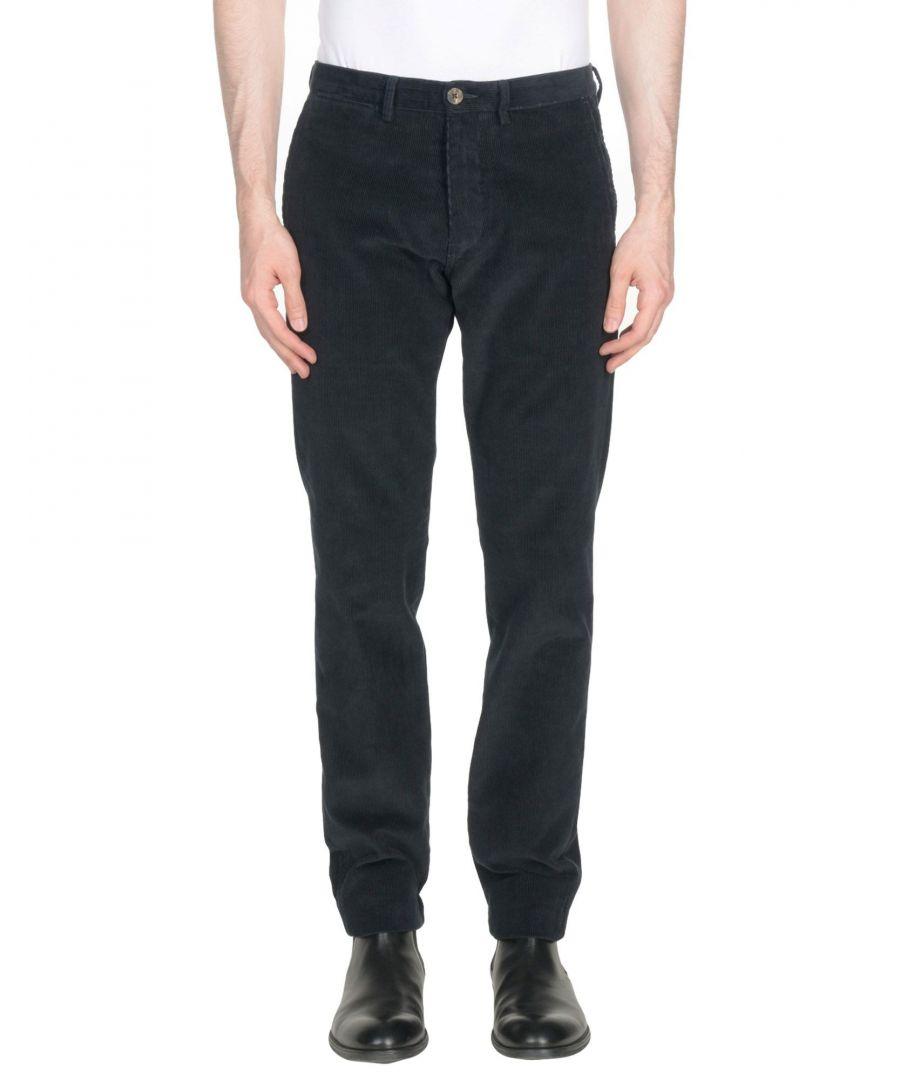 Image for Ben Sherman Dark Blue Cotton Corduroy Tapered Leg Chino Trousers
