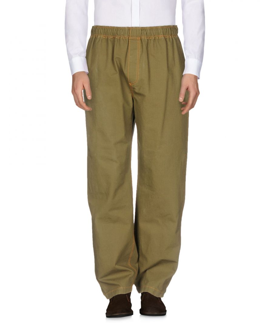 Image for Msgm Military green Cotton Casual trousers