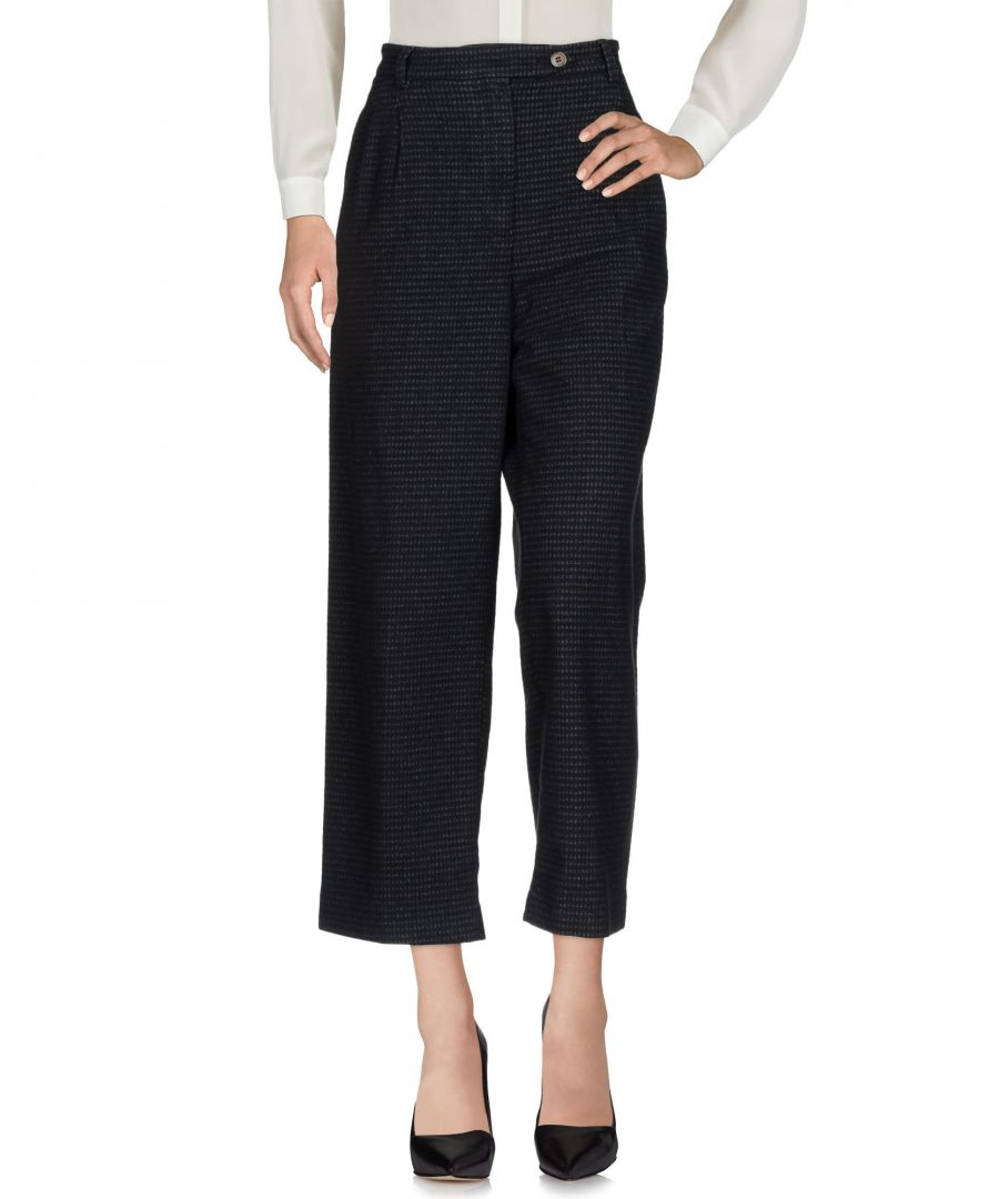 Image for True Nyc� Black Cotton Cropped Trousers