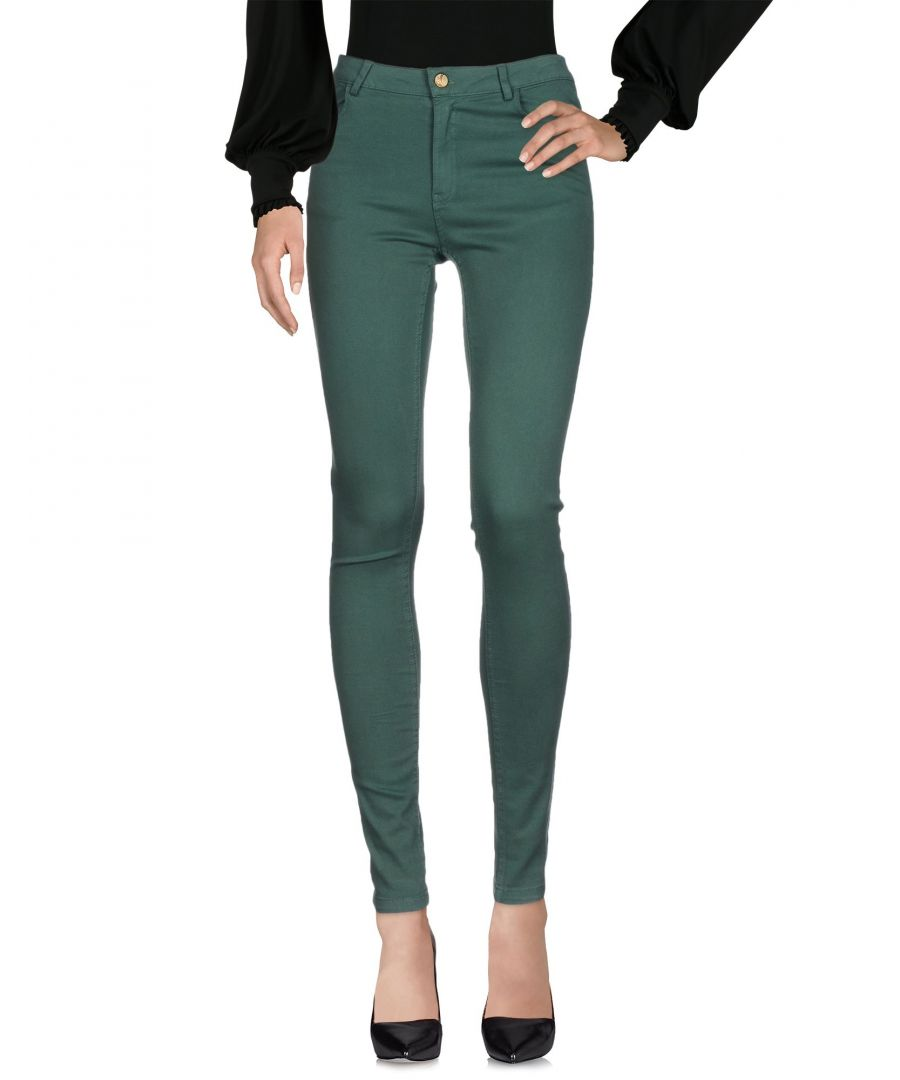 Image for Manila Grace Denim Green Cotton Trousers