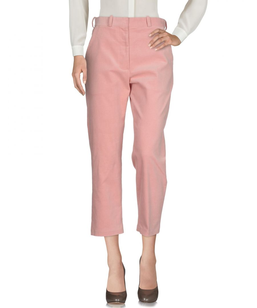 Image for Desert Mannequin X N-Duo Pink Cotton Corduroy Cropped Tailored Trousers