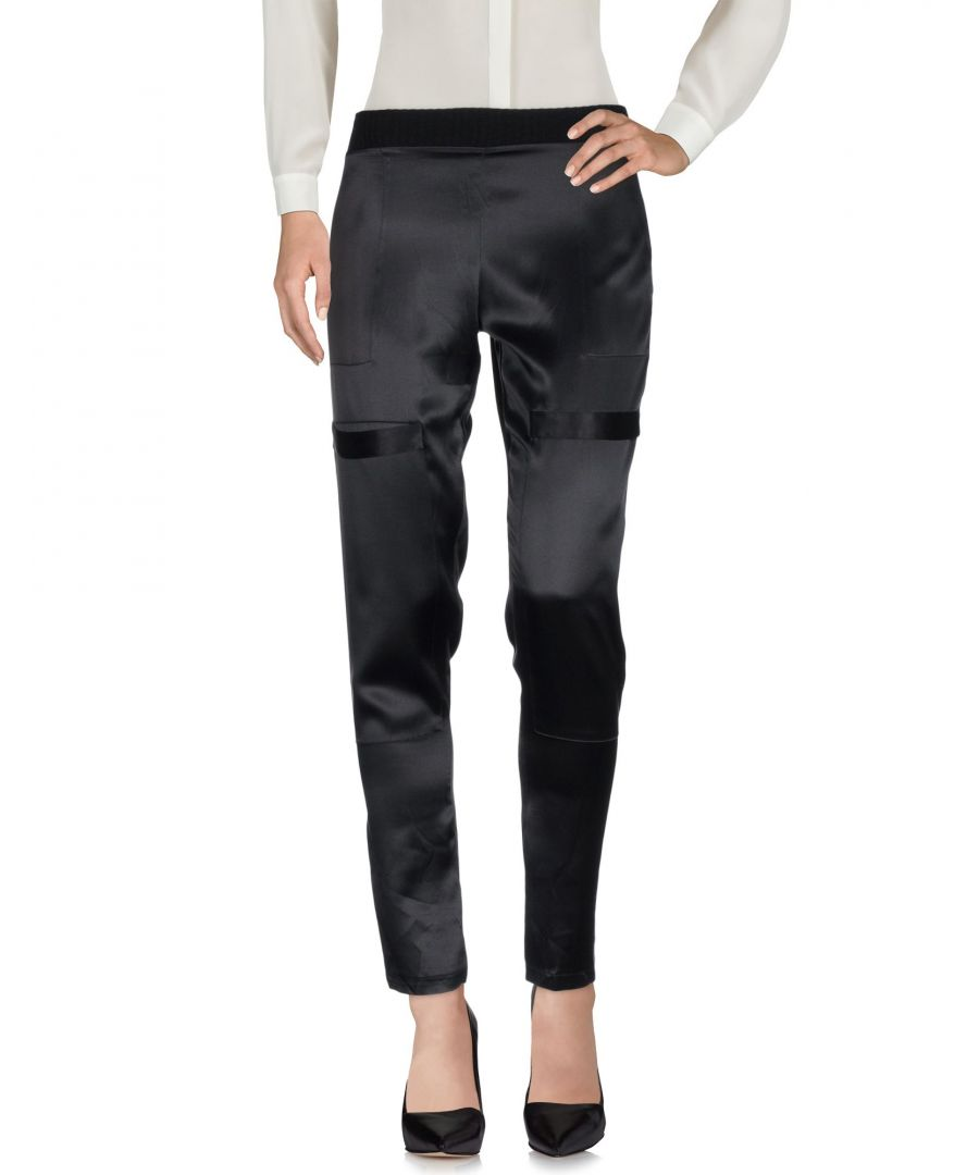 Image for Alexis Black Silk Trousers
