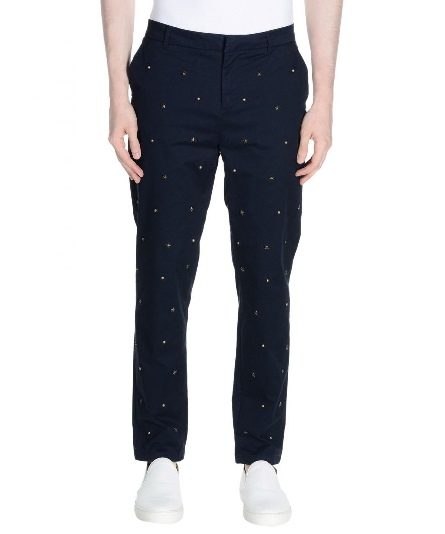 Image for Scotch & Soda Dark Blue Cotton Tapered Leg Chino Trousers