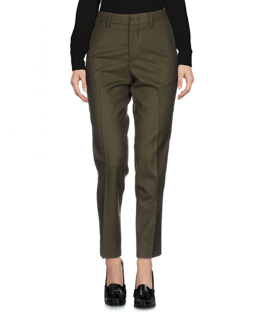 Image for PT01 Military Green Virgin Wool Tailored Trousers