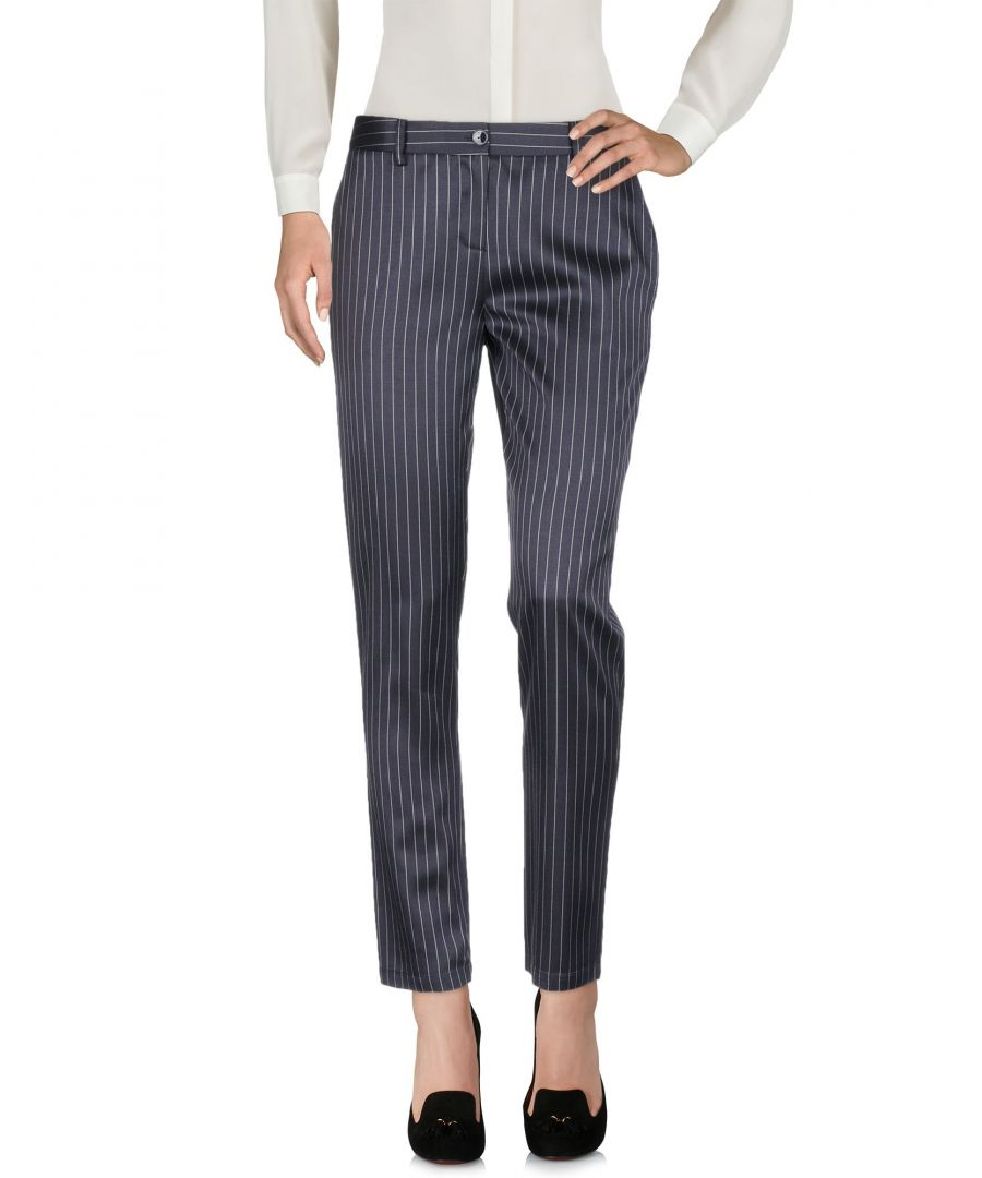 Image for Patrizia Pepe Dark Blue Regular Fit Tailored Trousers