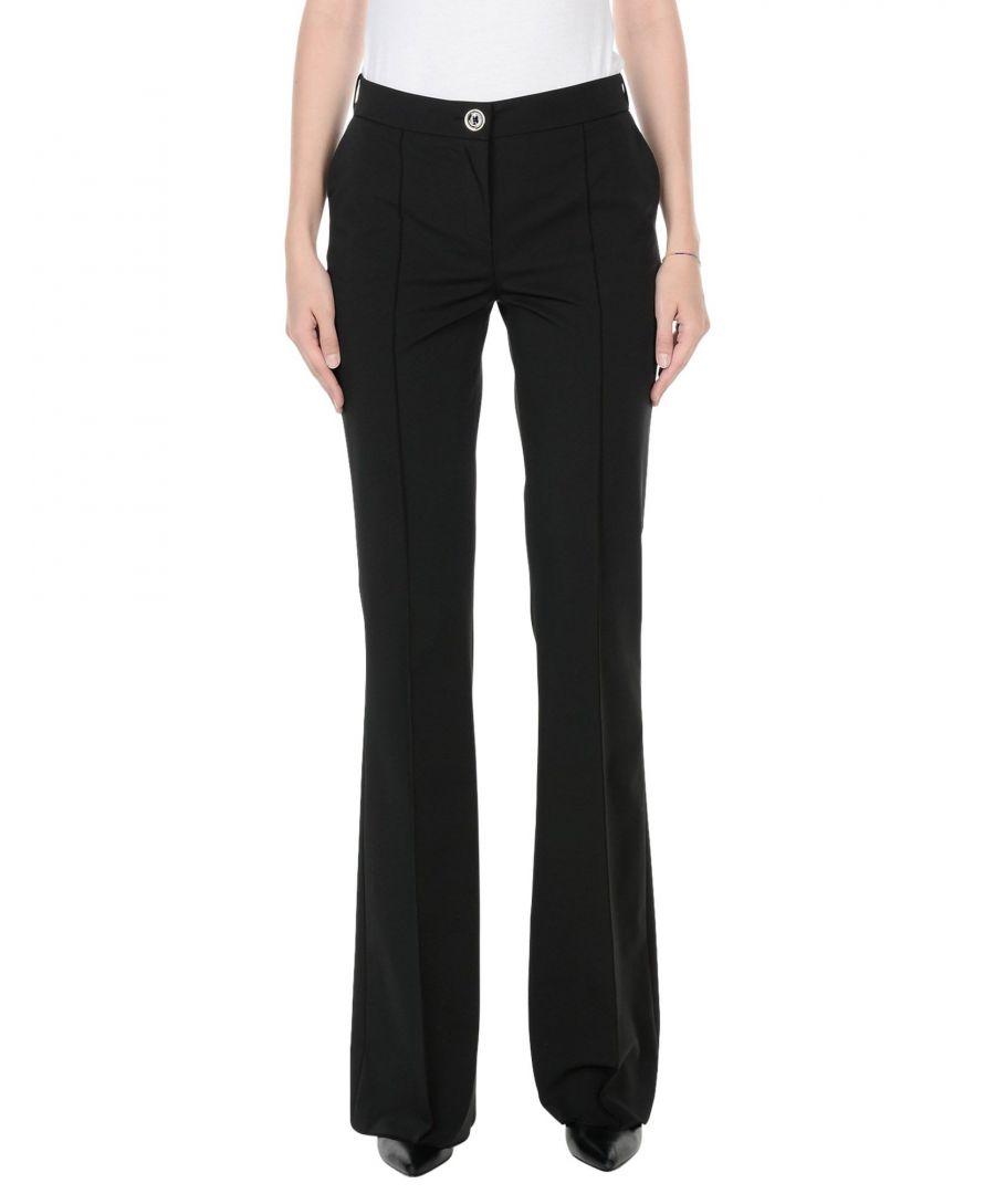 Image for Elisabetta Franchi Black Crepe Tailored Trousers