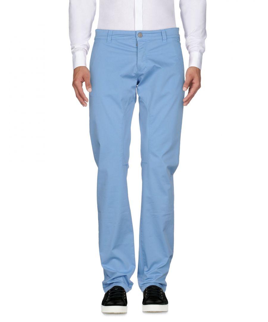 Image for Siviglia Sky Blue Cotton Trousers