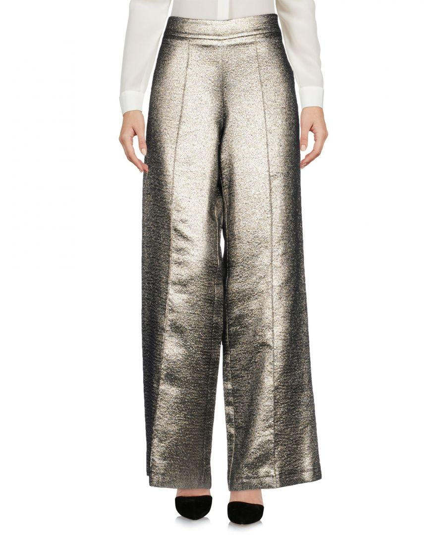 Image for Roberto Collina Silver Laminated Effect Wide Leg Trousers