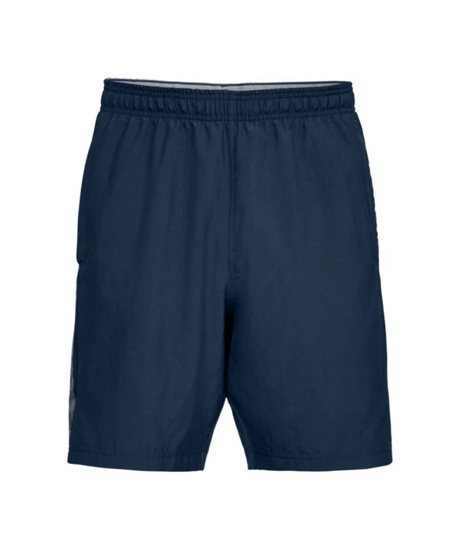 Image for Under Amour Woven Graphic Wordmark Mens Short Navy Blue - M