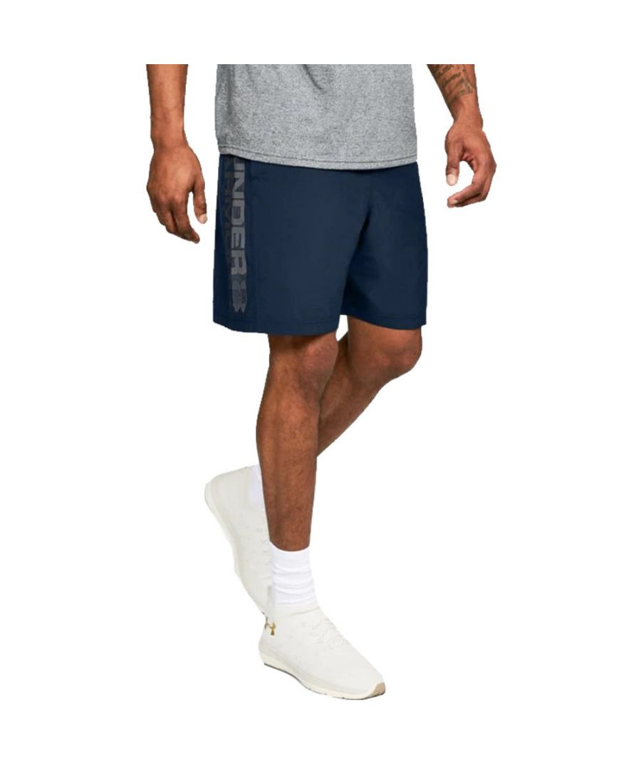 Image for Under Armour Mens Woven Graphic Wordmark Lightweight Shorts