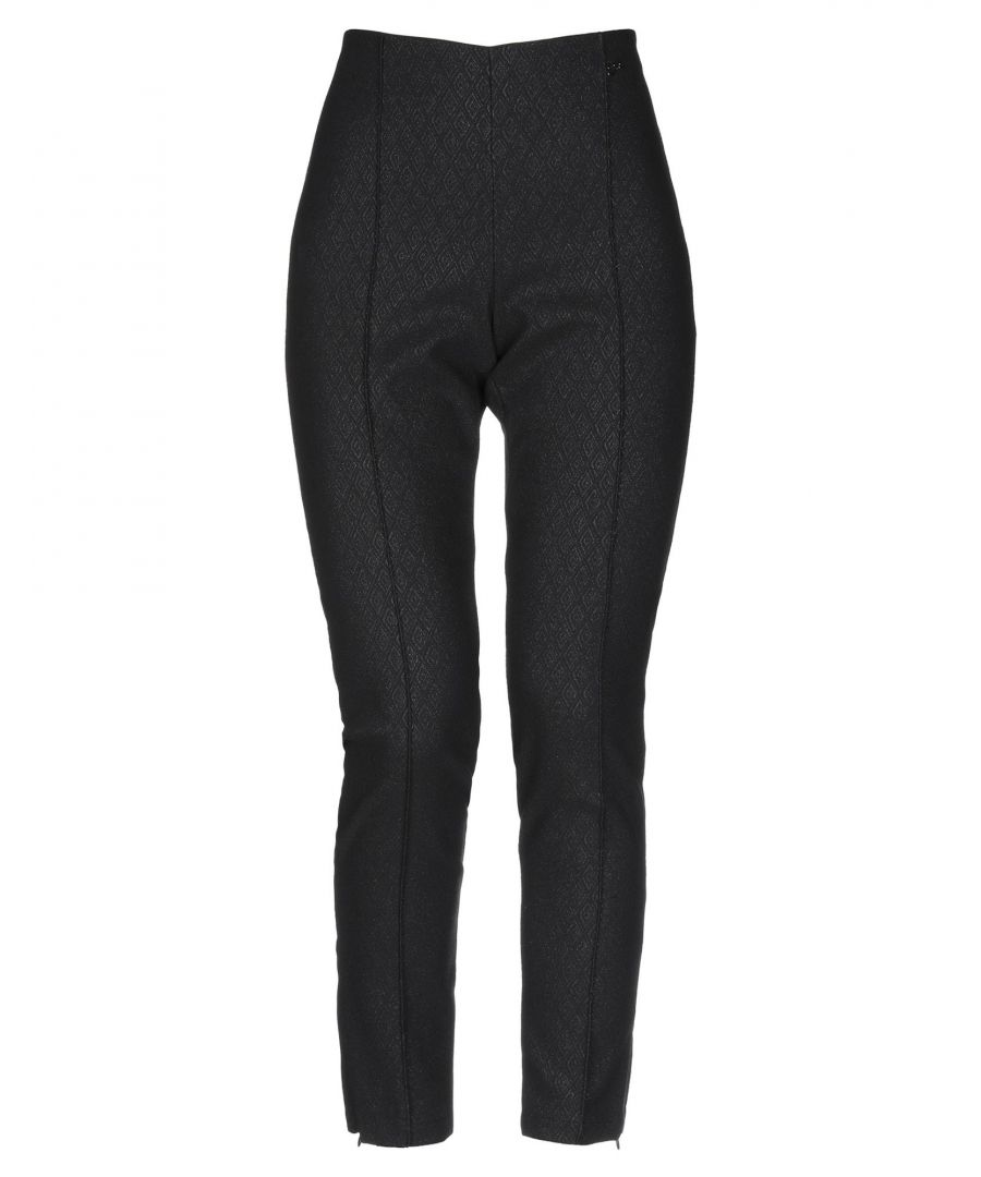 Image for Yes Zee By Essenza Black Slim Fit Tapered Leg Trousers