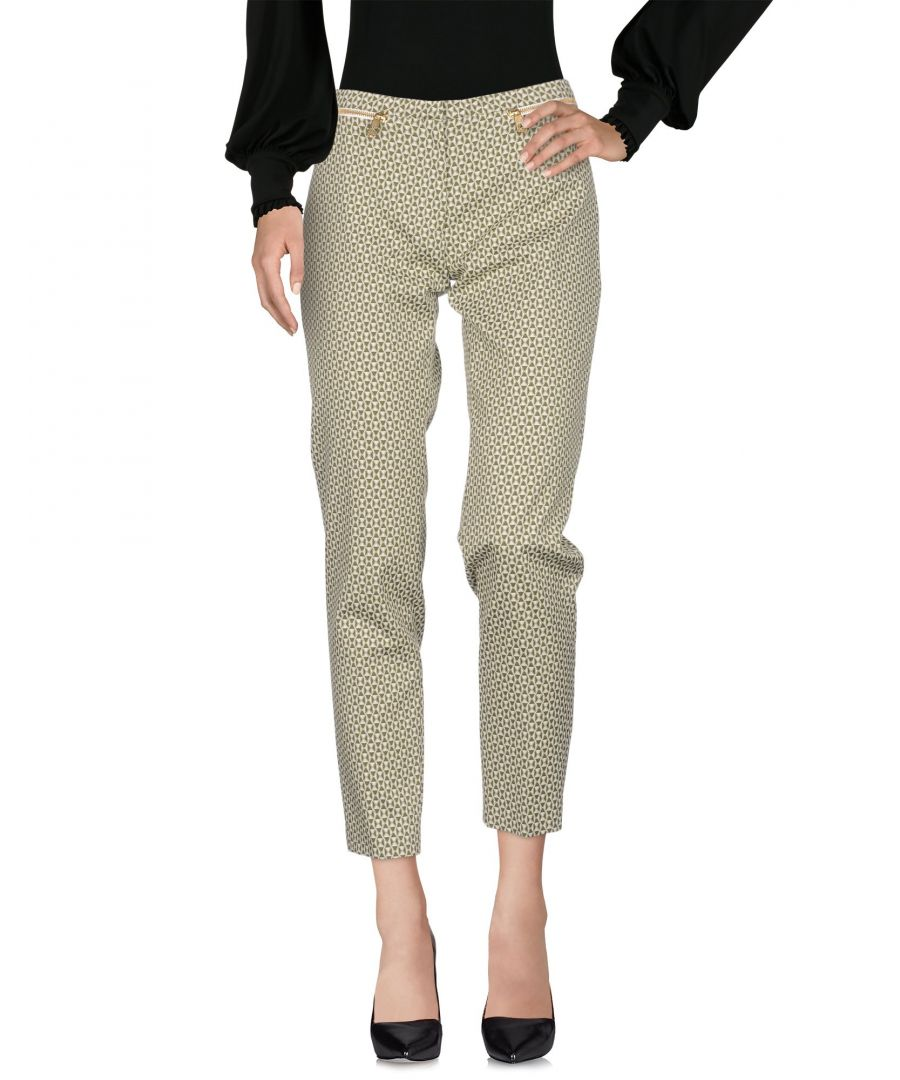 Image for Versace Collection Green Paisley Print Cotton Tapered Leg Trousers