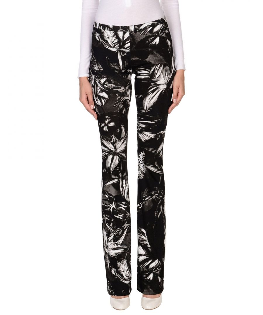 Image for Just Cavalli Black Print Trousers
