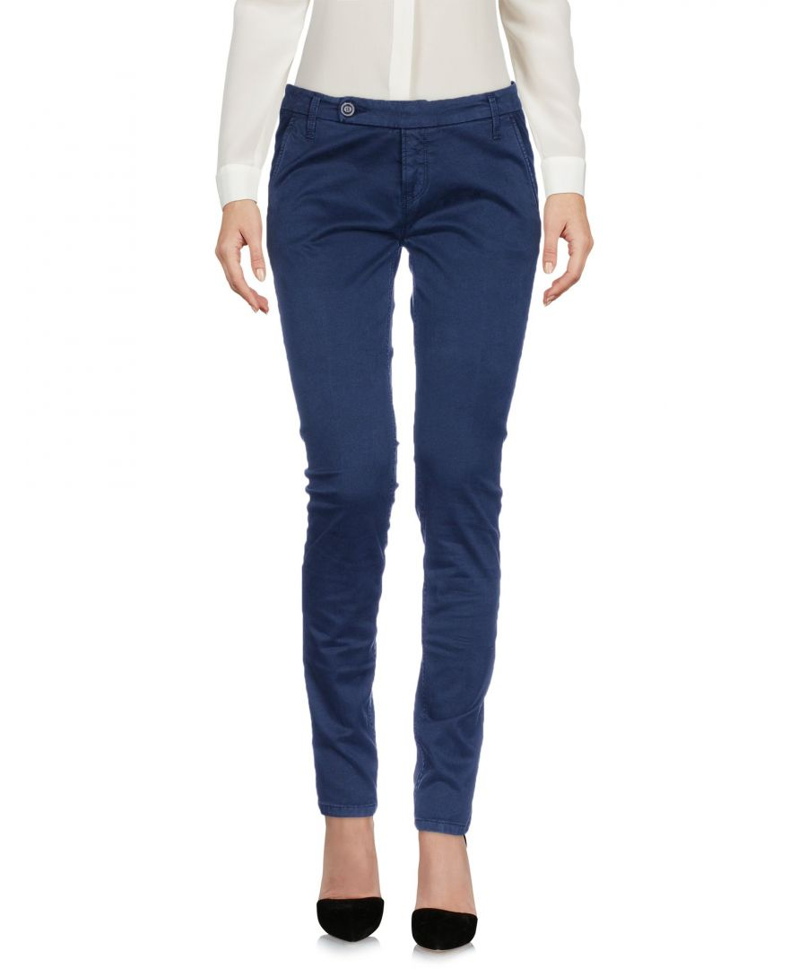 Image for True Nyc� Dark Blue Cotton Tapered Leg Trousers