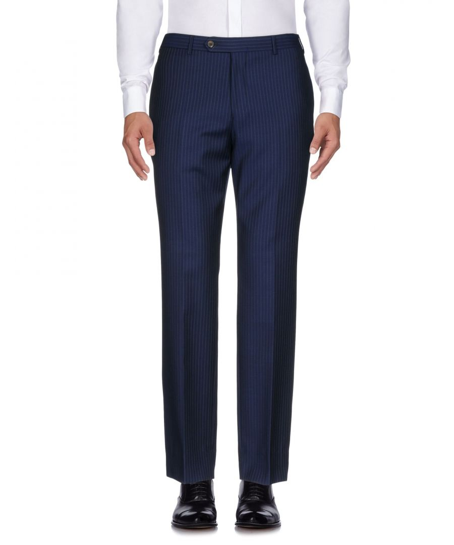 Image for Brooks Brothers Dark Blue Wool Tailored Trousers
