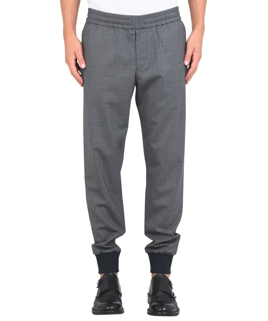 Image for Ps Paul Smith Grey Wool Tapered Leg Joggers