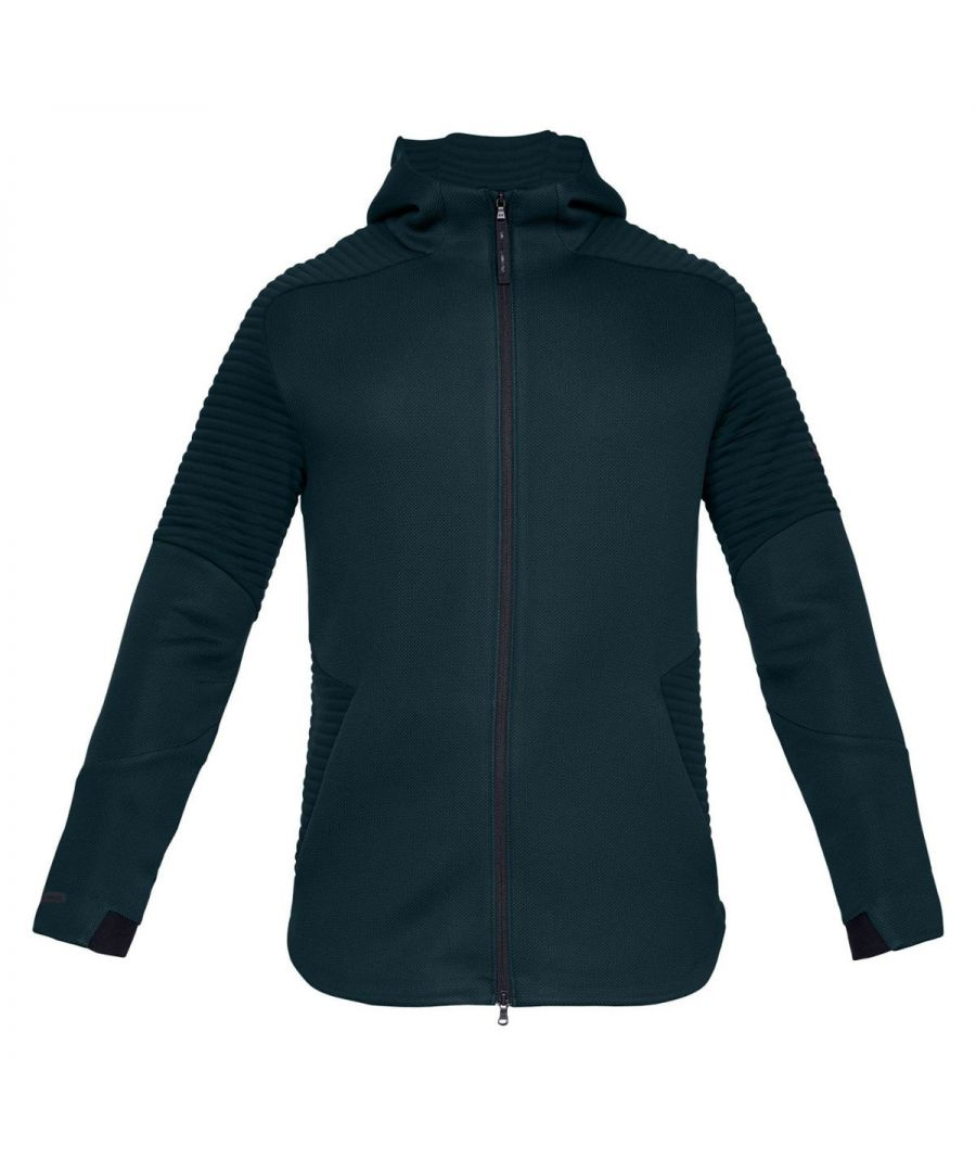 Image for Under Armour Unstoppable MOVE Fleece Mens Full Zip Hoodie Green