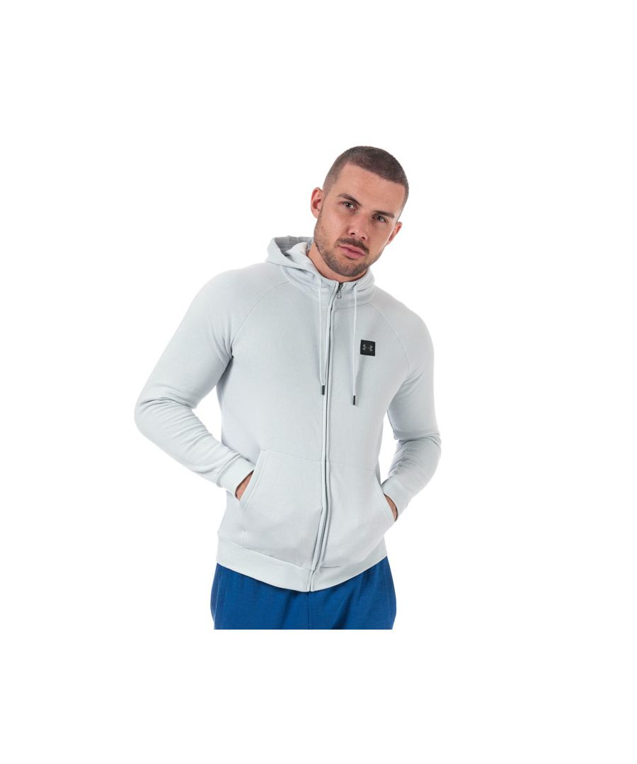 Image for Men's Under Armour UA Rival Fleece Zip Hoody in Grey