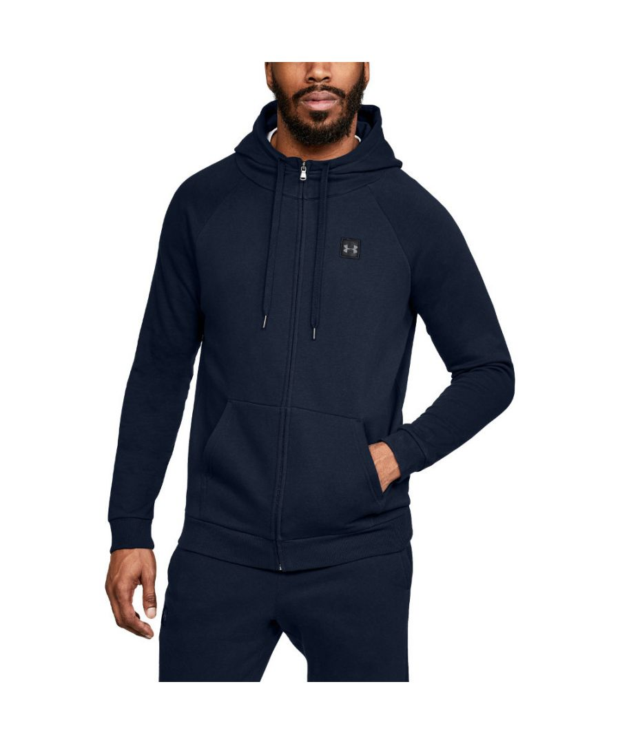 Image for Under Armour Mens Rival Fleece Light Full Zip Training Hoodie Sweater