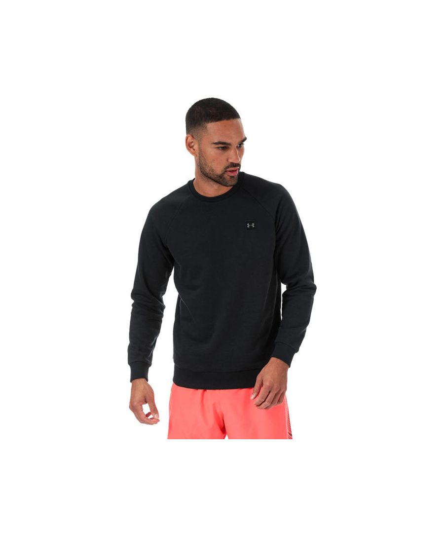 Image for Men's Under Armour Rival Fleece Crew Sweat in Black