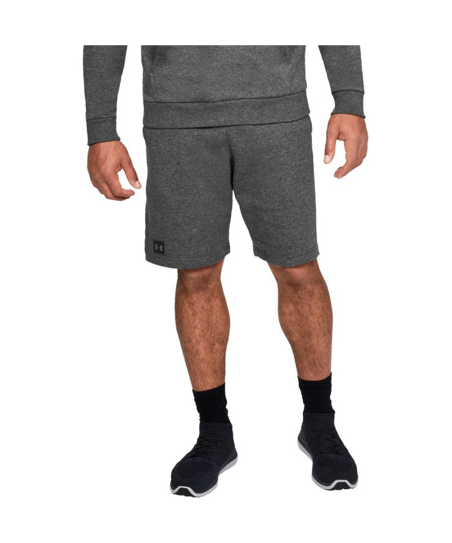 Image for Under Armour Mens Rival Fleece Lightweight Wicking Training Shorts