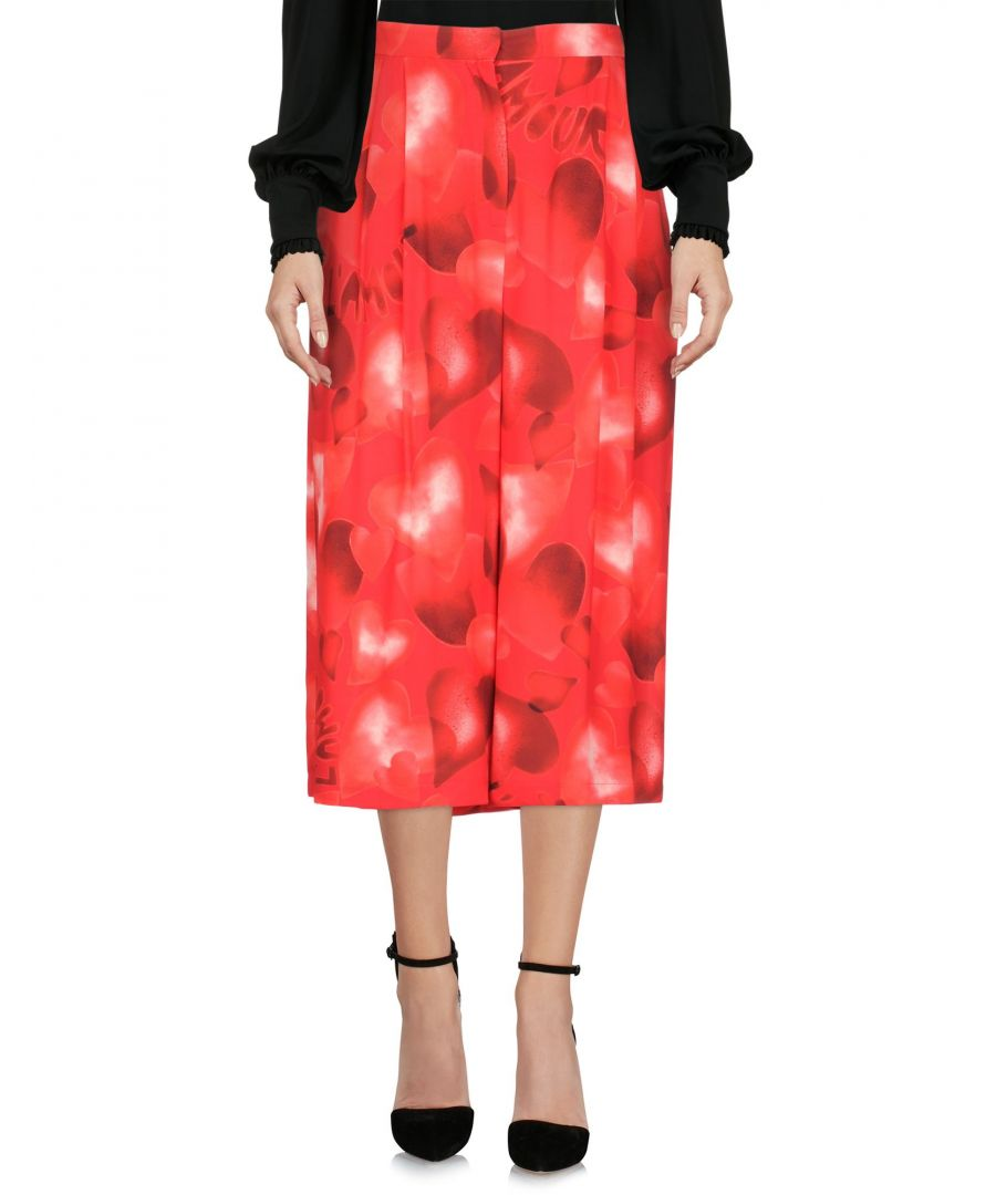 Image for Valentino Red Silk 3/4-Length Trousers