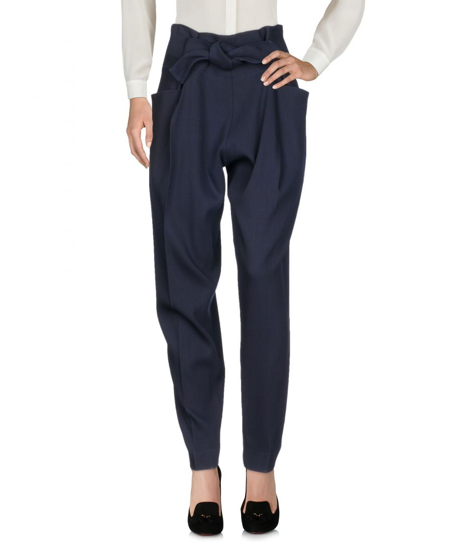 Image for Victoria Beckham Dark Blue Wool Trousers