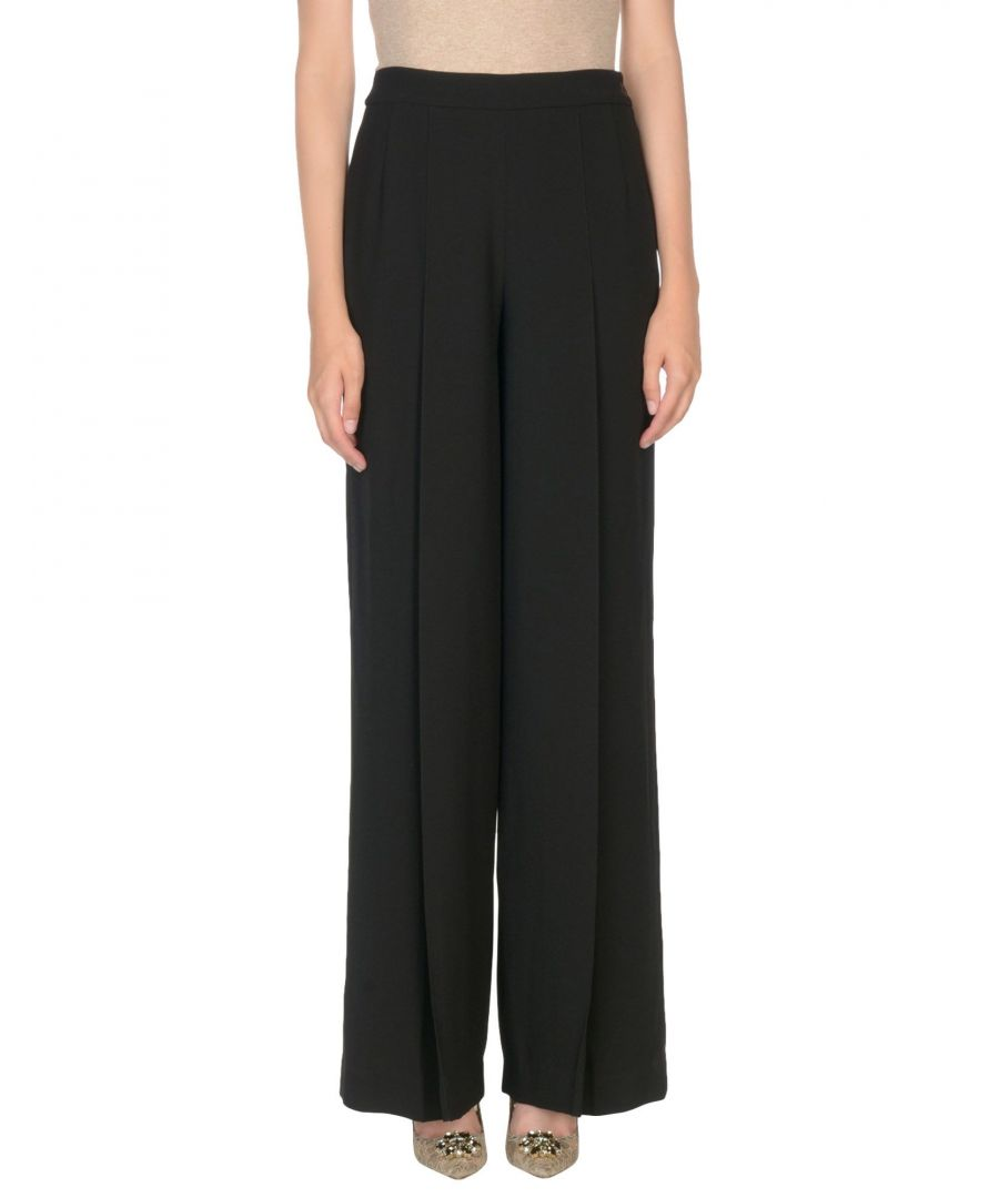 Image for Lauren Ralph Lauren Black Tailored Wide Leg Trousers