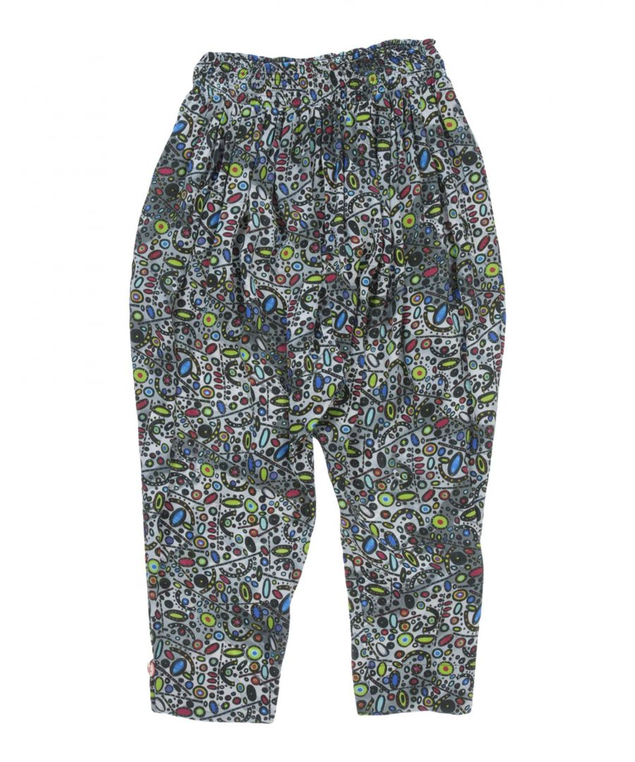 Image for Manila Grace Grey Girl Viscose Trousers