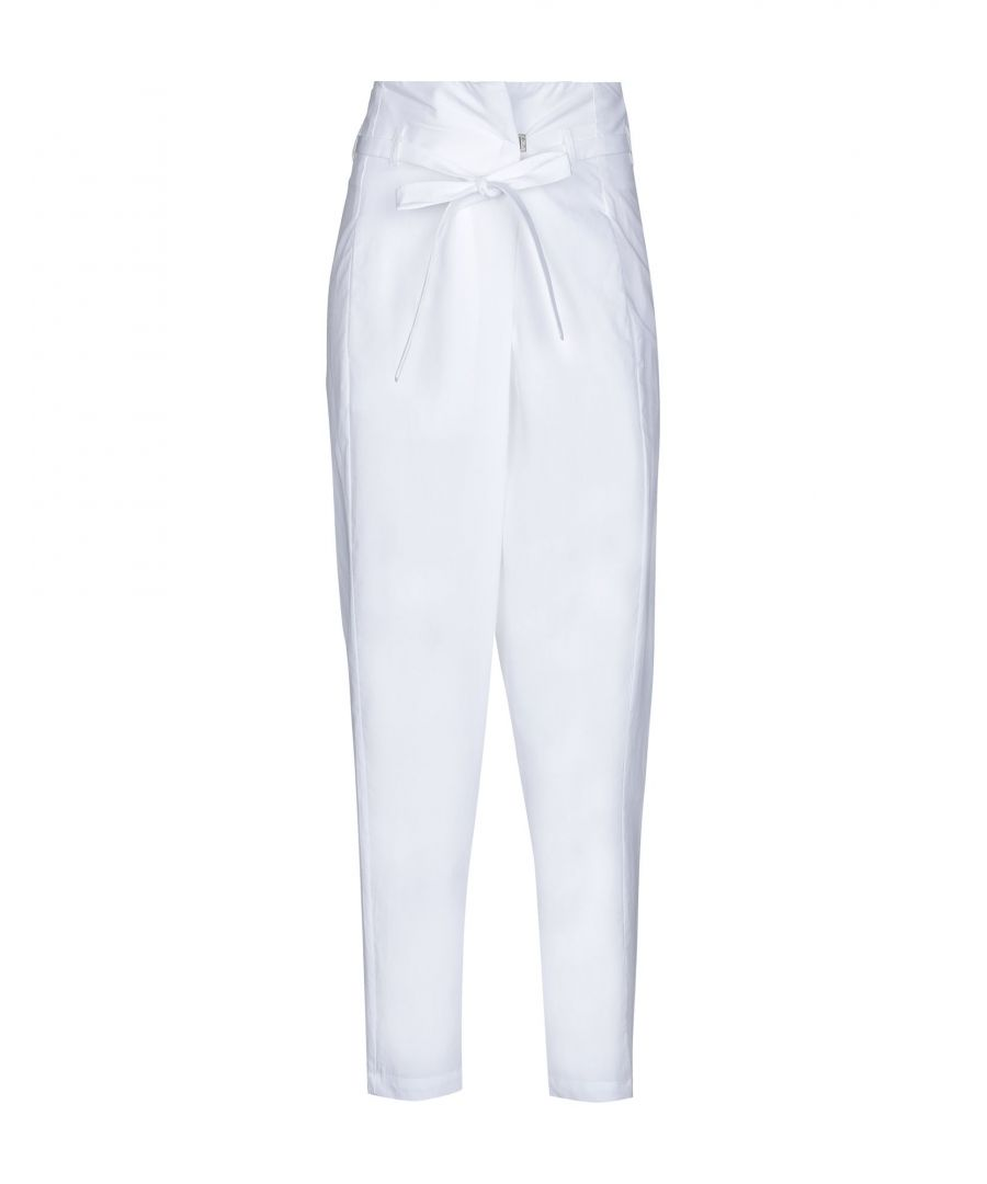 Image for TROUSERS Woman Alysi White Cotton