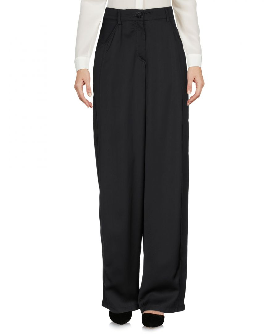 Image for Emporio Armani Black High Waisted Wide Leg Trousers
